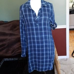 Anthro Cloth & Stone Flannel Shirt Dress